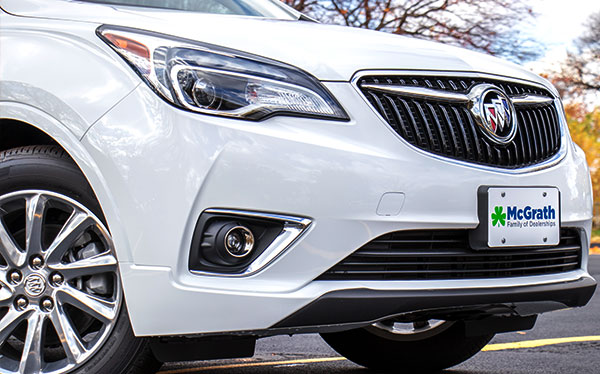 2019 White Buick Envision Front End Exterior