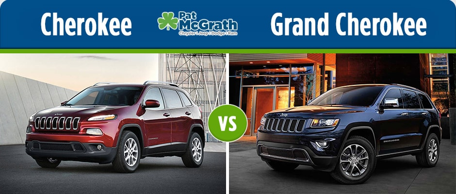 jeep cherokee vs jeep grand cherokee pat mcgrath chrysler jeep dodge ram cedar rapids ia. Black Bedroom Furniture Sets. Home Design Ideas