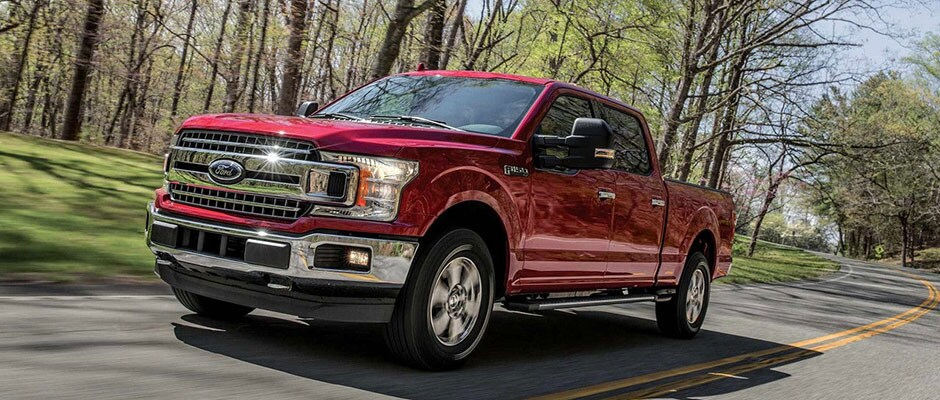 Red 2018 Ford F-150