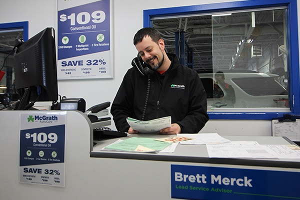 Brett Merck, one of our experienced service advisors