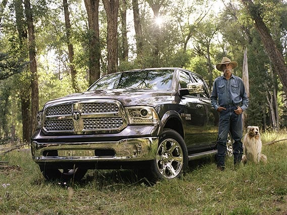 Ram 1500 Hemi with Rancher and dog