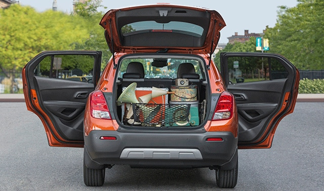 Amazing Orange Chevy Trax Trunk View