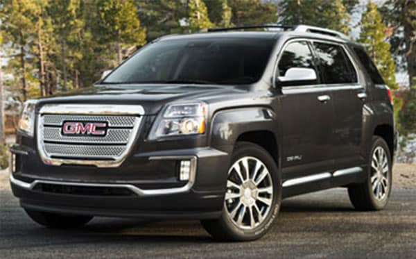 GMC Terrain in the woods