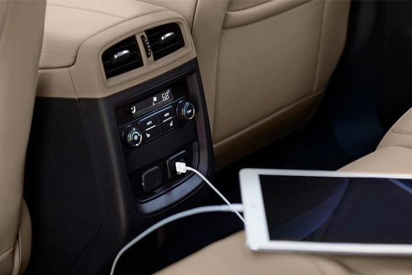 Tablet Connecting to USB ports in the back seat of the 2019 Buick Envision
