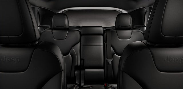 Black leather Cherokee Rear Seating