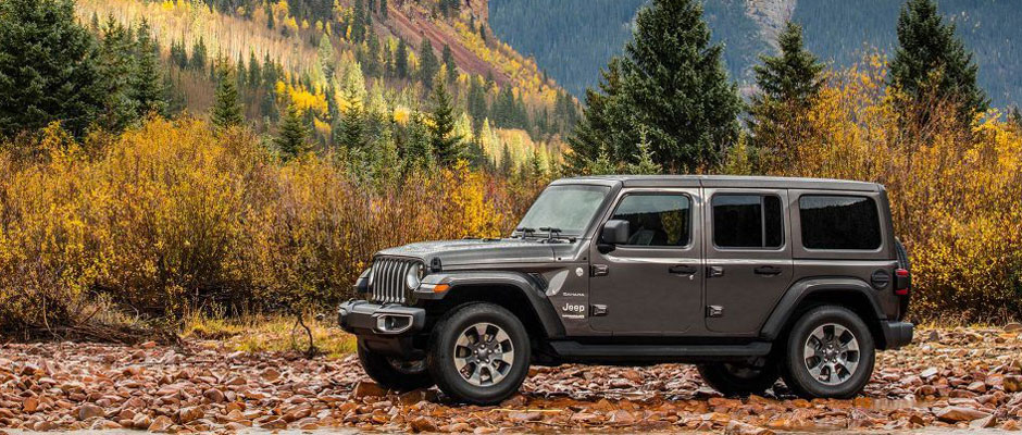 2019 Jeep Wrangler in the fall