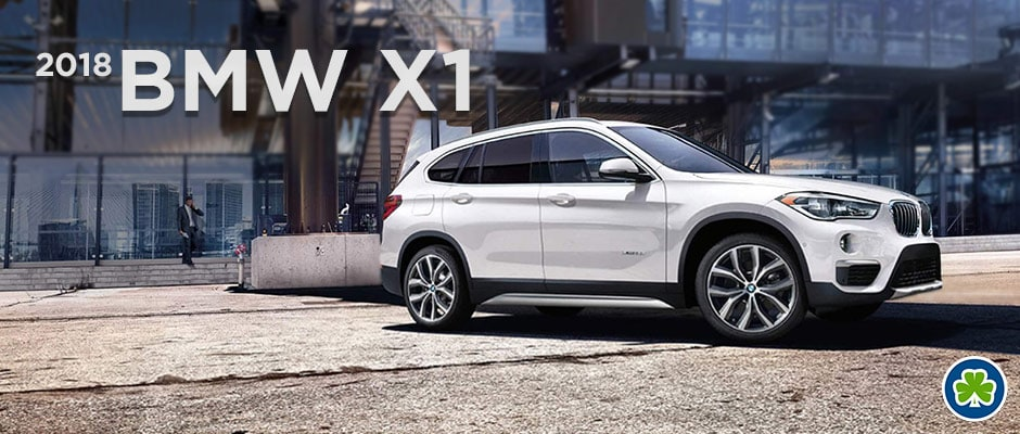 White 2018 BMW X1 Front Angle