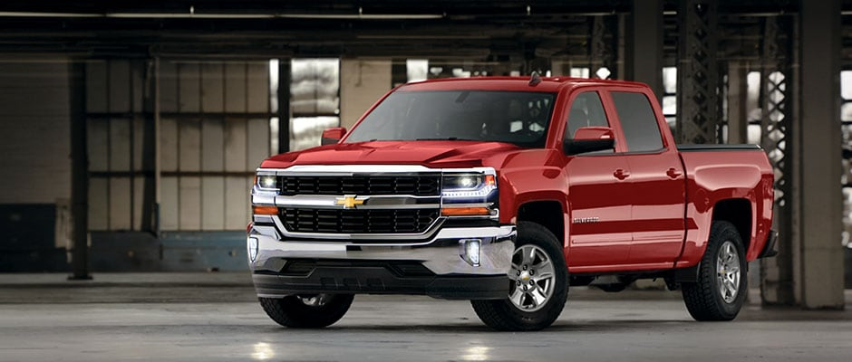 Chevy Silverado in a warehouse