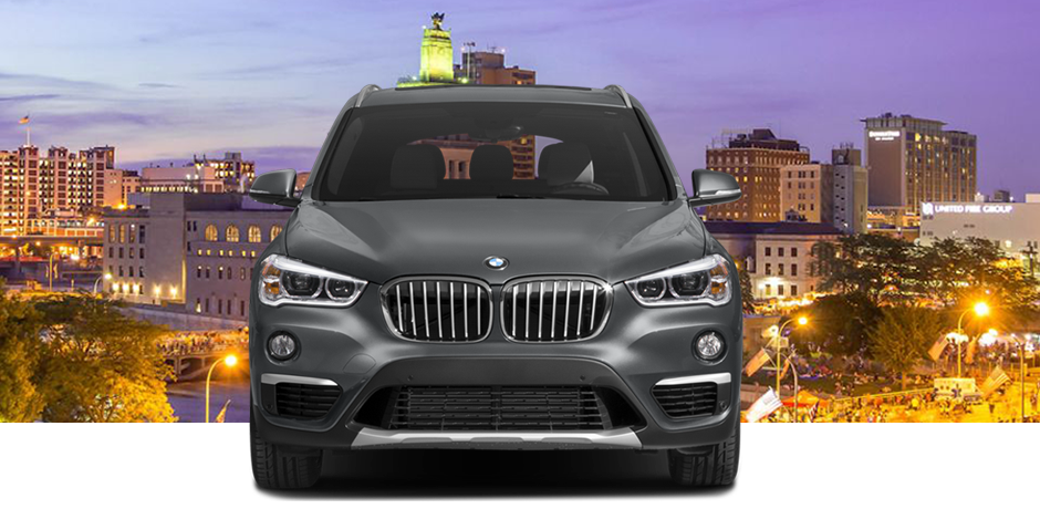 2018 Gray BMW X1 Front View