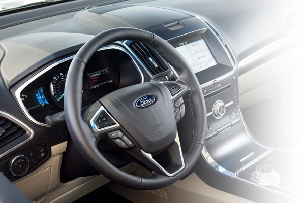 Ford's tech filled steering wheel and dashboard