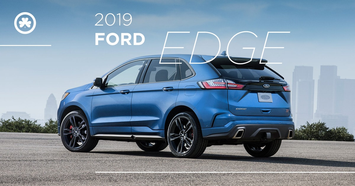 2019 Ford Edge ST in blue