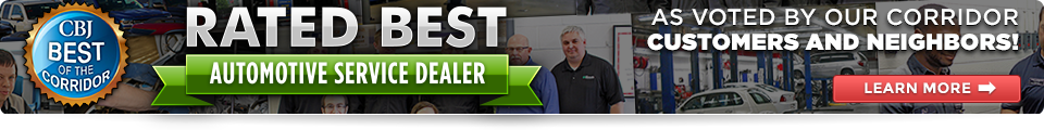 Corridor Business Journal Best Auto Service Dealer
