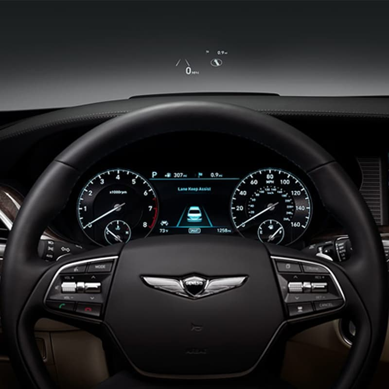 2019 Genesis G90 front heads-up display