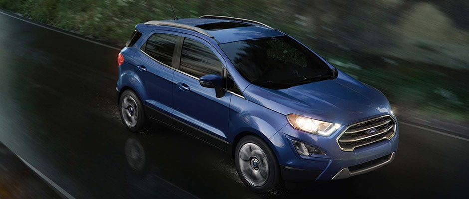 Blue 2018 Ford Escape in Motion