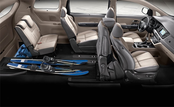 2019 Kia Sedona slide-n-stow seating split 3rd row