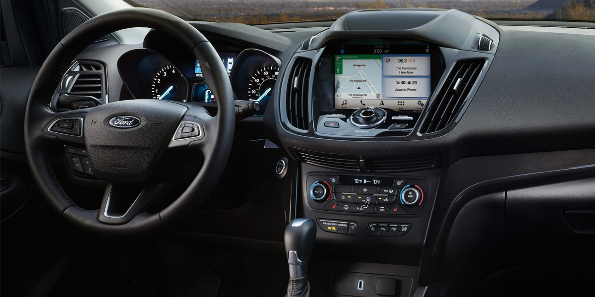 2019 Ford Escape front dash features