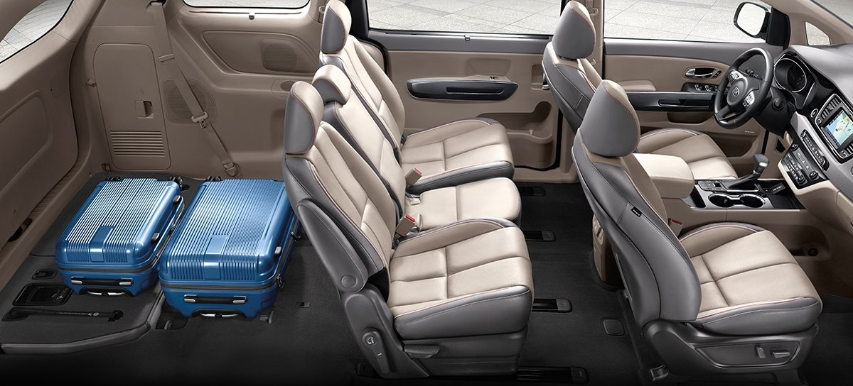 2019 Kia Sedona rear cargo space