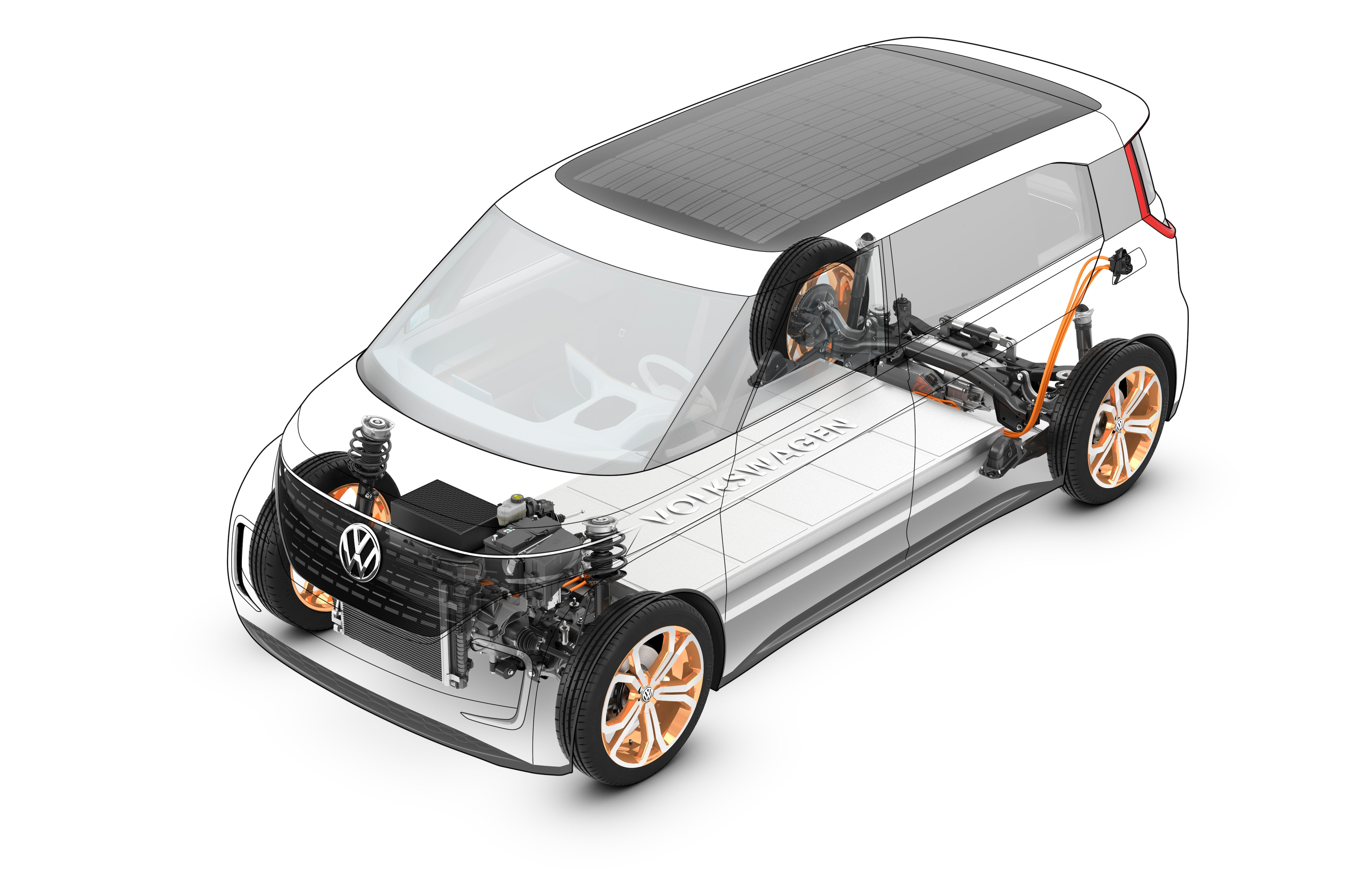 VW BUDD-e Concept electric battery performance