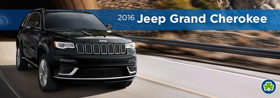 Black 2016 Jeep Grand Cherokee Front Angle