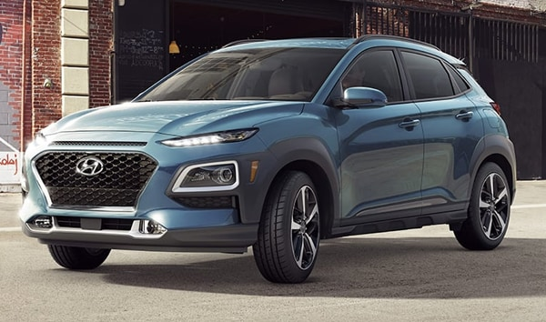 2019 Thunder Gray Hyundai Kona Ultimate Parked