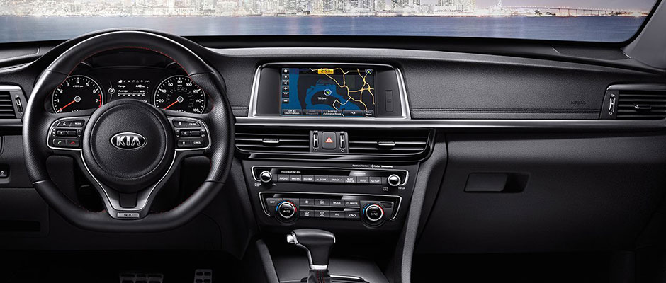 Front dash of the 2018 Kia Optima