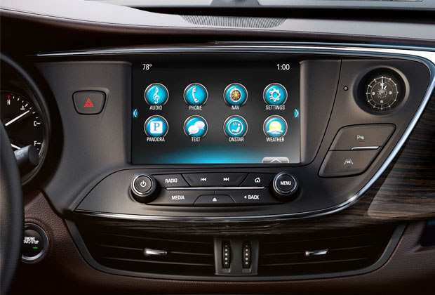 Buick Envision 8-inch touchscreen intelliLink