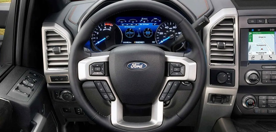 inside the 2019 Ford F-250