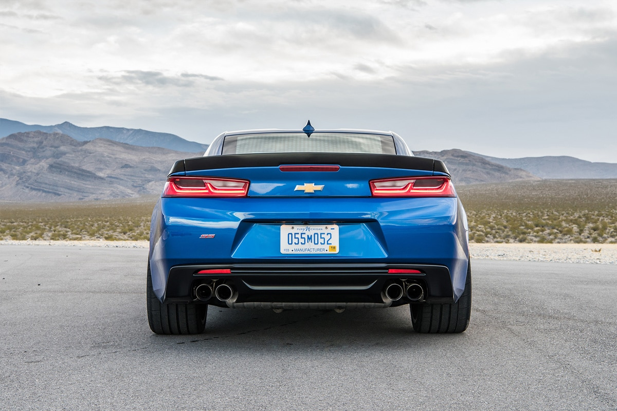 Chevy Camaro Blue Rear