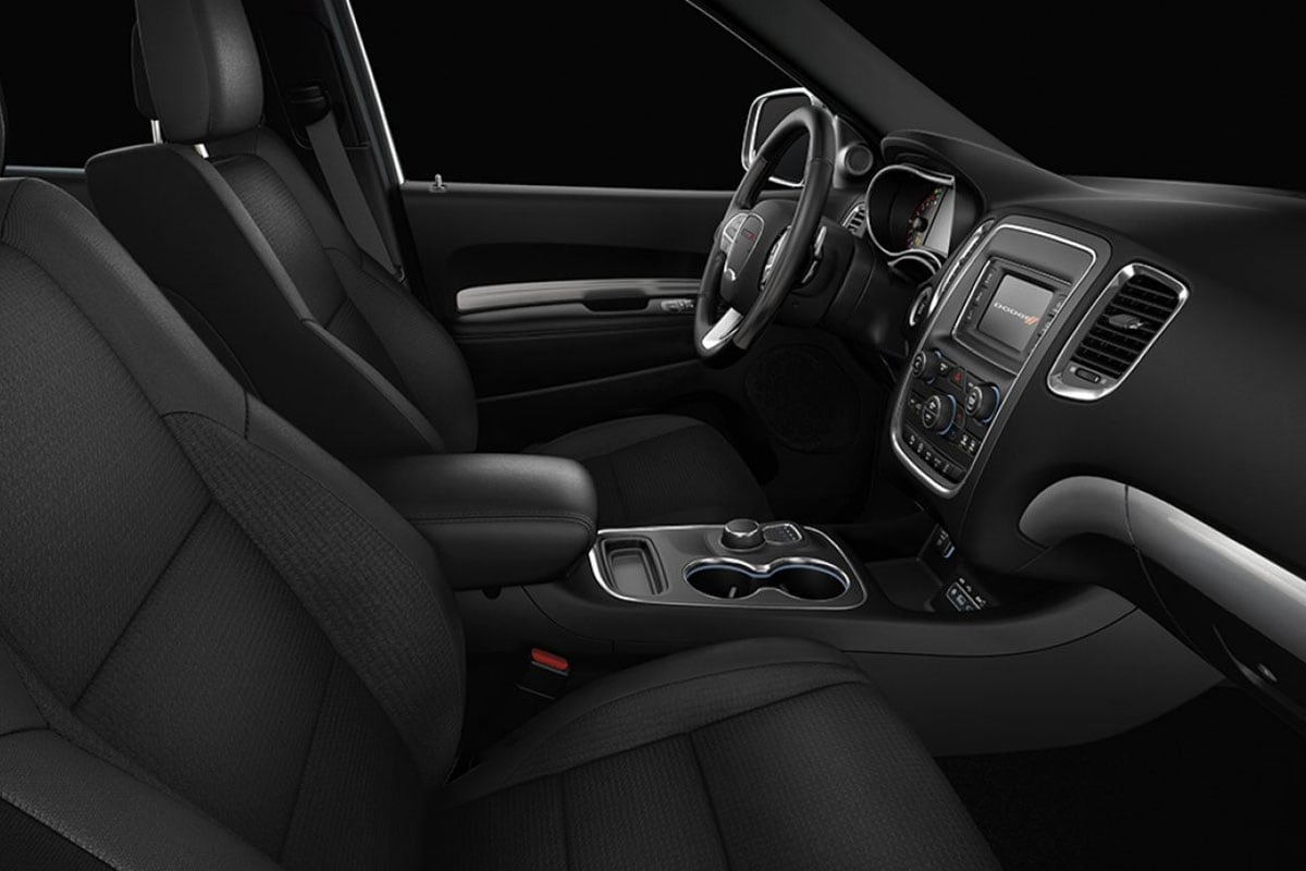 Dodge Durango interior front seating