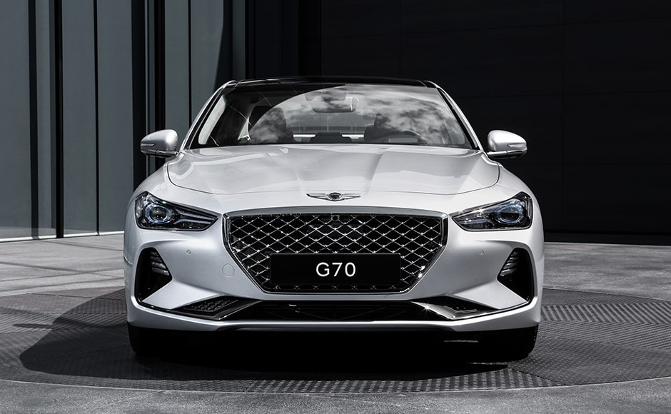 G70 front grill and head lights