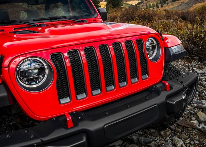 Seven Slot Grille in the Wrangler Rubicon
