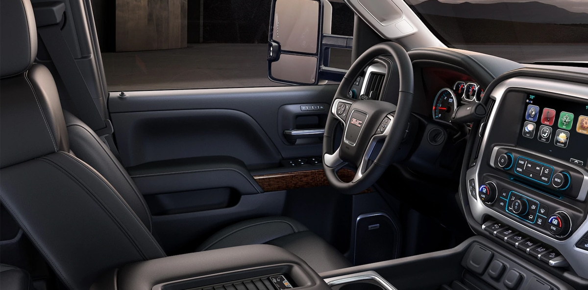 2019 GMC Sierra 2500 Interior Leather Seats and Front Dash