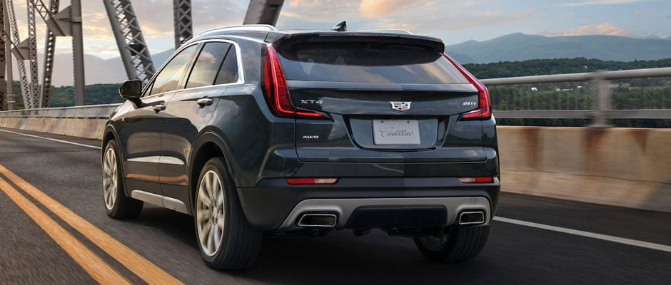rear design of the cadillac xt4