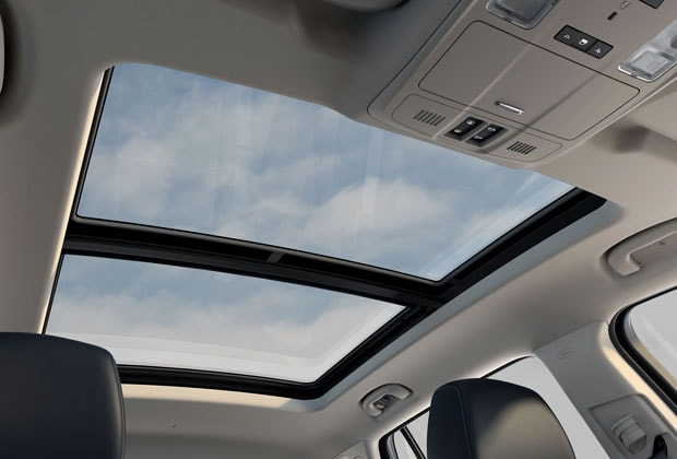 Dual pane sunroof and moonroof in the 2016 Envision
