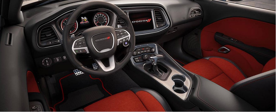 2016 Dodge Challenger Red Interior Seating