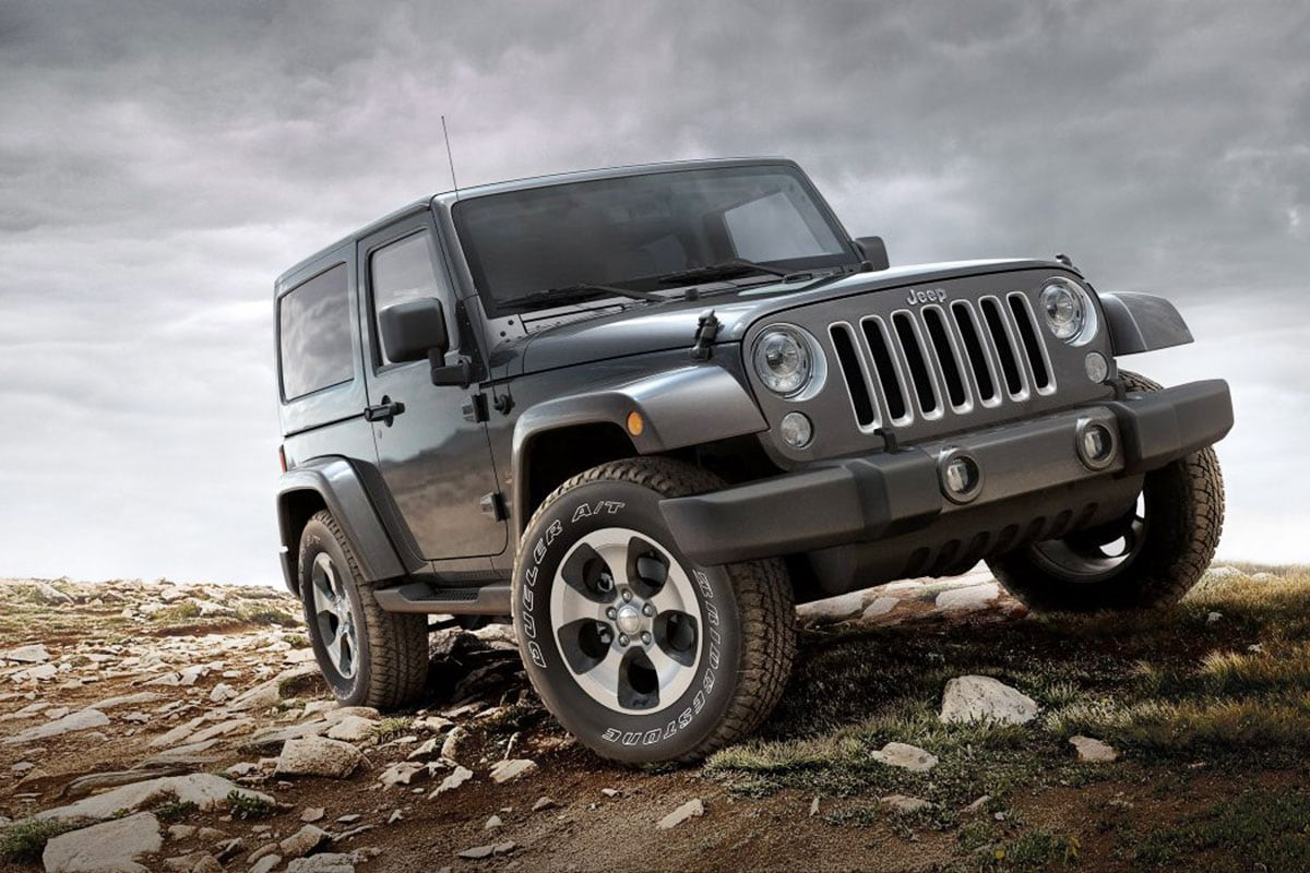 Jeep Wrangler open-air, removable doors and top with four wheel drive