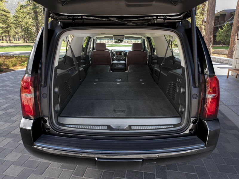 2019 Chevy Suburban Seats folded all the way down