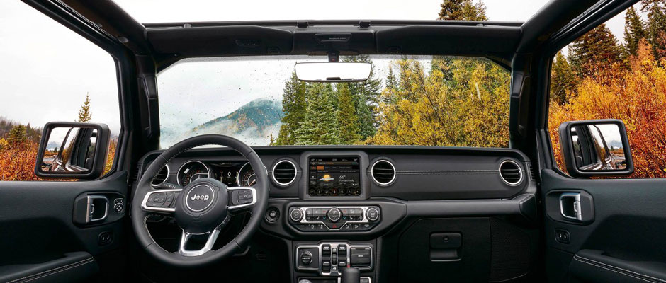 Inside the all new Jeep Wrangler