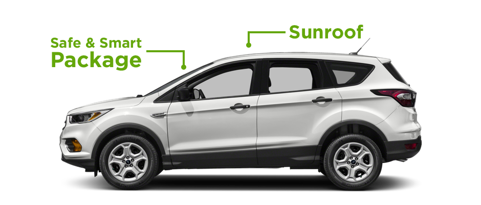Sunroof and Safe and Smart Package for the Ford Escape