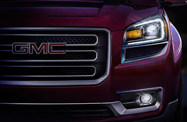 2016 Red GMC Acadia Front Grille