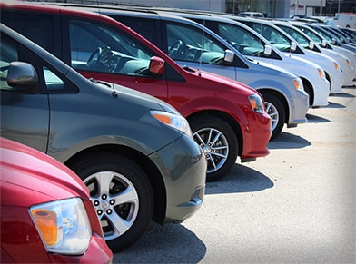 Used car lot vehicles