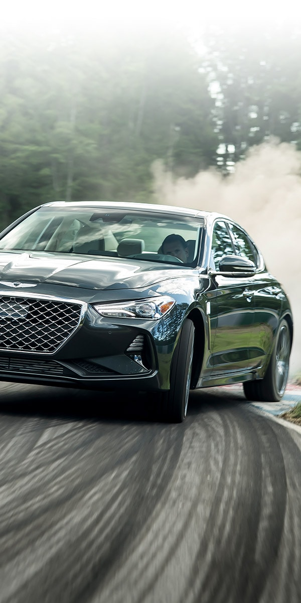 2019 Genesis G70 on the track