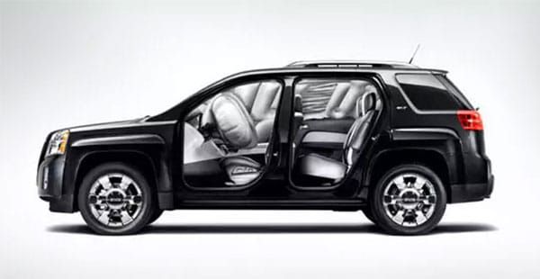 2016 GMC Terrain Safety Features Airbags Deployed