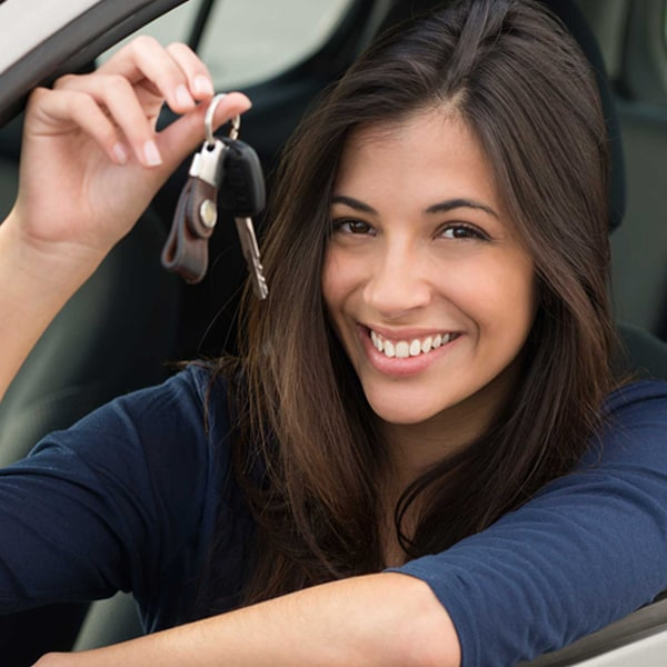 Women with car keys