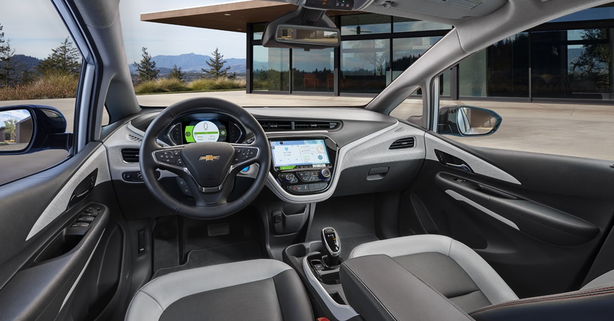 2019 Chevy Bolt Front Cabin Interior Seats and Dash
