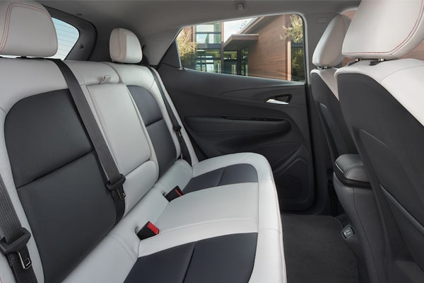 2019 Chevy Bolt back leather seating