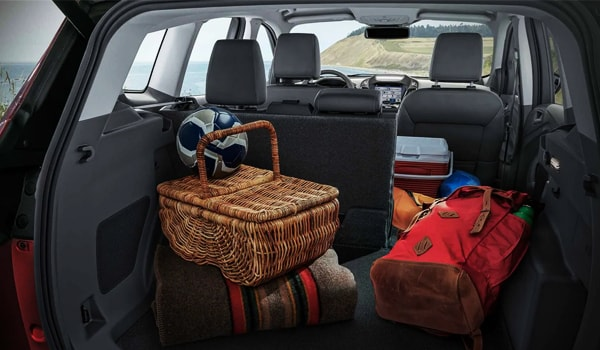 2019 Ford Escape cargo space with one seat down
