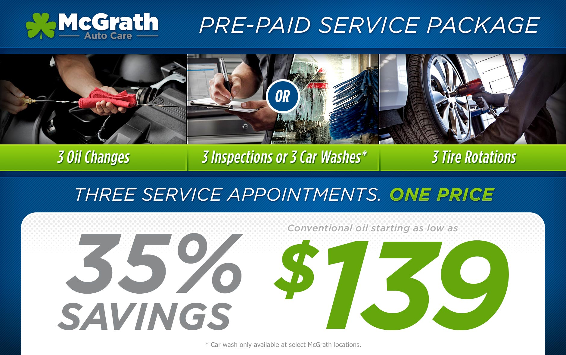 McGrath AutoCare Service Packages