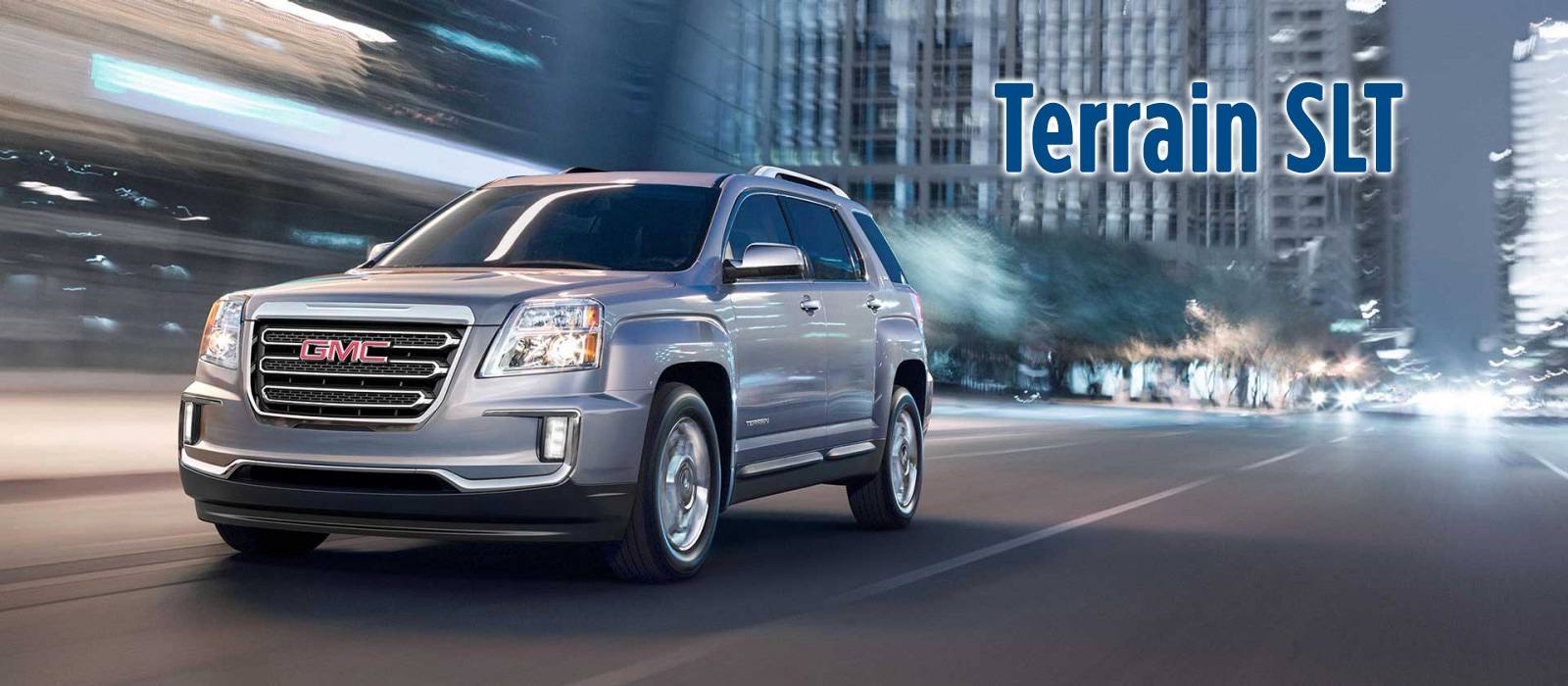 Silver GMC Terrain SLT Front Angle
