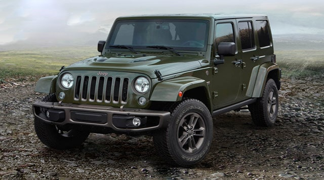Hunter Green Jeep Wrangler Side View